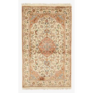 Hand-Knotted Beige Area Rug ByMeridian Rugmakers