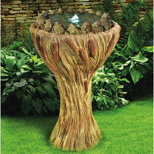 Henri Studio Concrete Ring of Frog Bubbler Fountain with LED Light