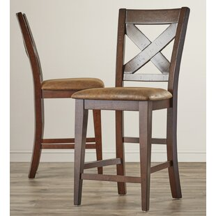 Mannox 25.75 Bar Stool (Set of 2) Alcott Hill