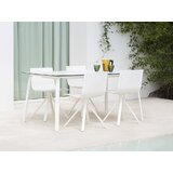Stack Rectangle Aluminum 5 Piece Dining Set