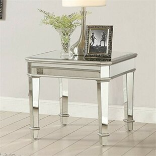Coventry Mirrored Transitional Wooden End Table by Rosdorf Park
