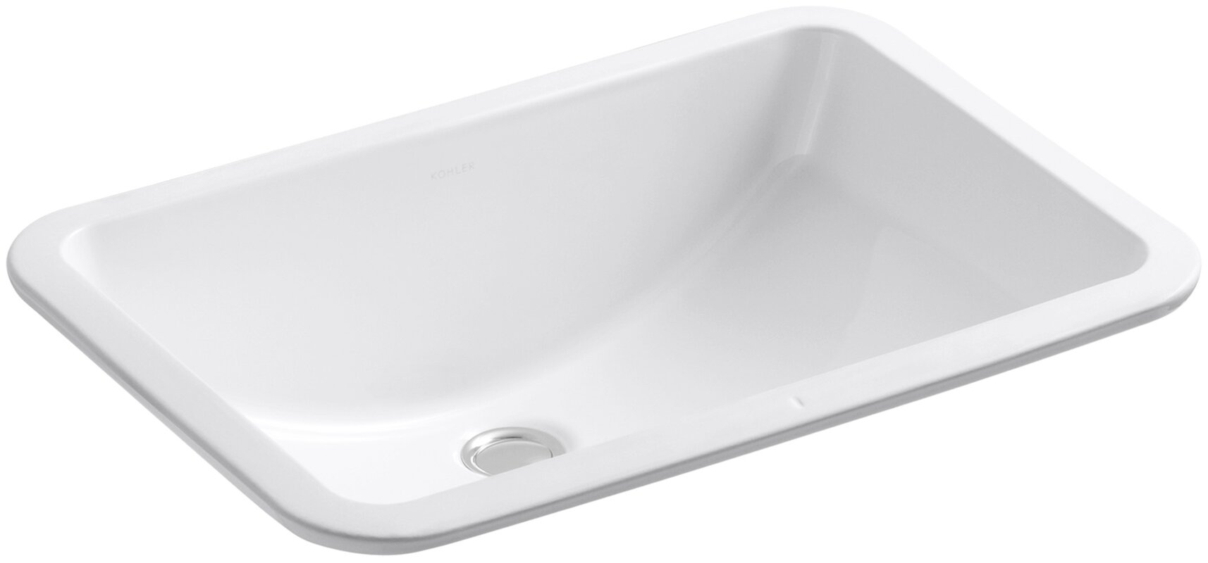 Ladena Ceramic Rectangular Undermount Bathroom Sink With Overflow