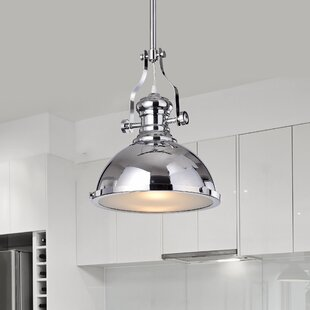 Great choice Madeira 1-Light Cone Pendant By Breakwater Bay