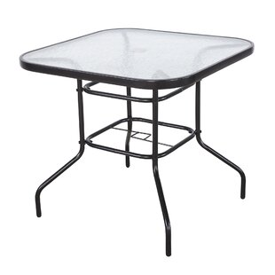Kibby Square Outdoor Metal Dining Table by Ebern Designs #1