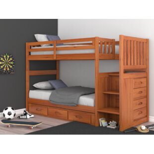 Trumble Twin Over Twin Bunk Bed with Drawers by Viv + Rae