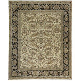 Online Reviews One-of-a-Kind Mountain King Hand-Knotted 11'10 x 14'7 Wool Brown/Black Area Rug ByBokara Rug Co., Inc.