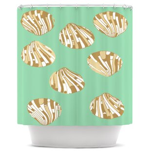 Scallop Shells Single Shower Curtain