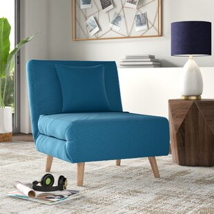 Wolfe Convertible Chair by Mercury Row Discount