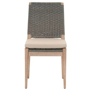Hacker Wooden Armless Upholstered Dining Chair (Set of 2) Bayou Breeze