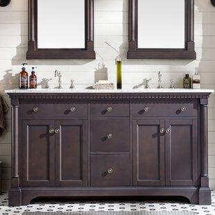 Langsa 61 Double Bathroom Vanity Set By Charlton Home