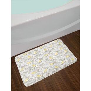 Grey and Yellow Bath Rug