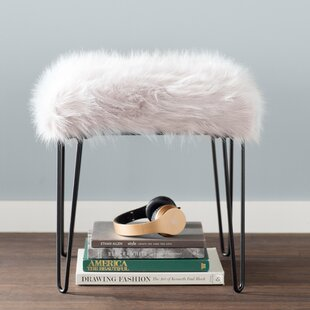 Online Reviews Arevalo Faux Fur Square Stool ByMercury Row