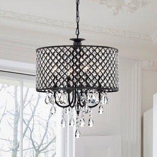 Willa Arlo Interiors Gisselle 4-Light LED Drum Chandelier