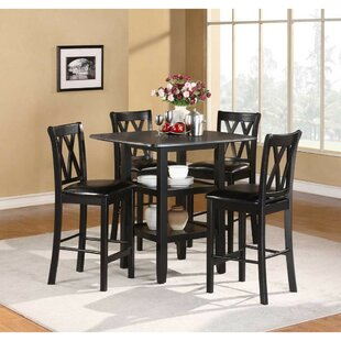 Brielle 5 Piece Counter Height Dining Set (Set of 5) Alcott Hill