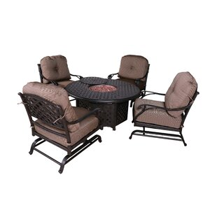 Kempf 5 Piece Firepit Set with Cushions