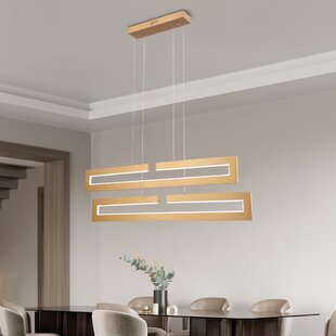 Gold Square Rectangle Ceiling Lights You Ll Love In 2021 Wayfair