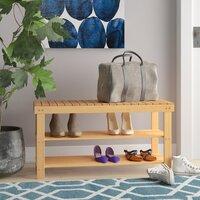 Deals on Rebrilliant 2-Tier Bamboo 8 Pair Shoe Rack