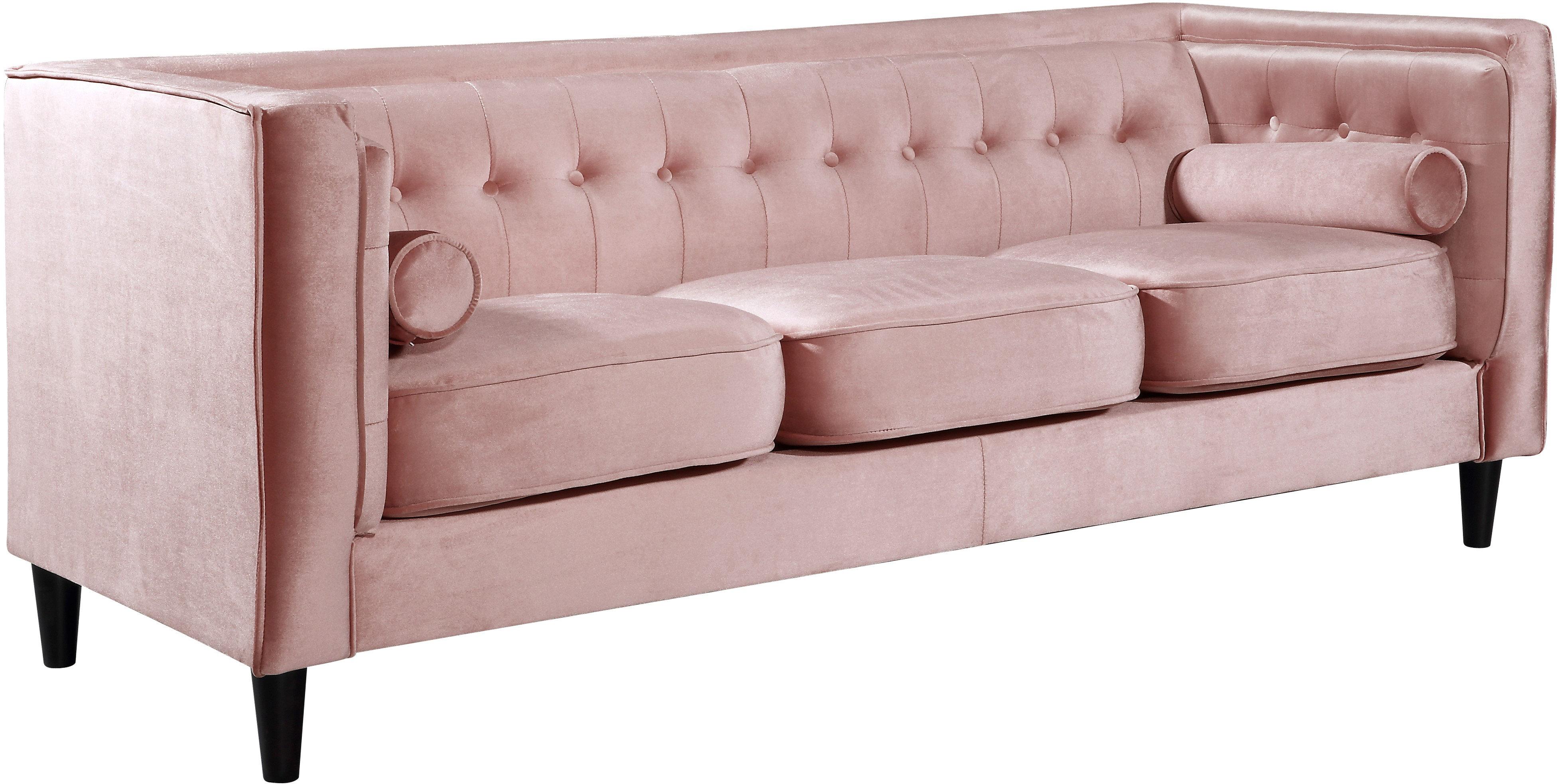 Willa Arlo Interiors Roberta 84 Wide Velvet Tuxedo Arm Sofa Reviews Wayfair