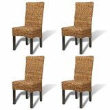 Asher Side Chair in Brown (Set of 4) by Bay Isle Home