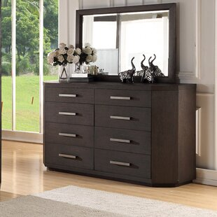 Tribeca Studio 8 Drawer Double dresser with Mirror