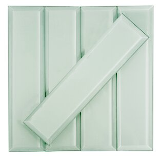 Frosted Elegance 3 x 12 Glass Subway Tile in Matte Arctic by Abolos
