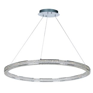 House of Hampton Ambrose 4-Light LED Crystal Chandelier