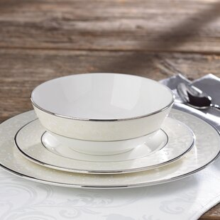 Innocence Bone China 3 Piece Place Setting, Service for 1