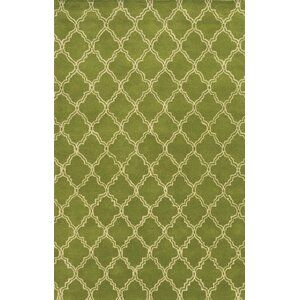 Progreso Hand-Tufted Green Area Rug