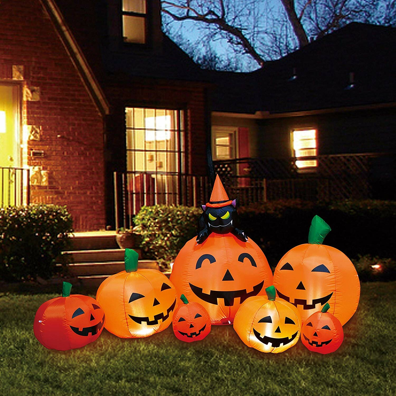 The Holiday Aisle 7 Piece Halloween Pumpkin Patch Inflatable Set Reviews Wayfair