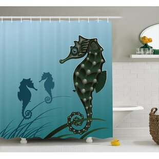 Animal Sea Creatures Aquatic Single Shower Curtain