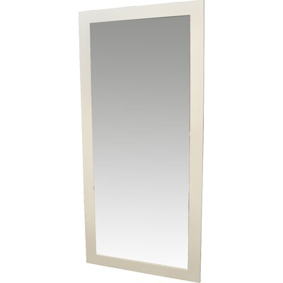 Brayden Studio Satin Full Length Body Mirror Size: 64 H x 26 W x 0.75 D, Finish: White