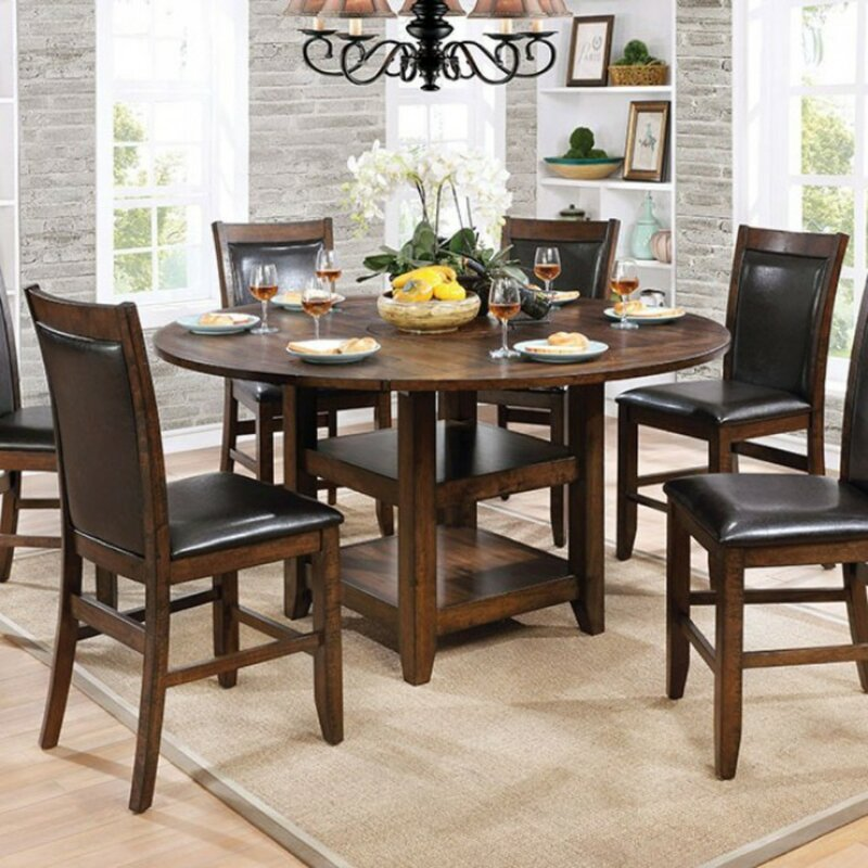 Declan Wooden Round Counter Height Dining Table