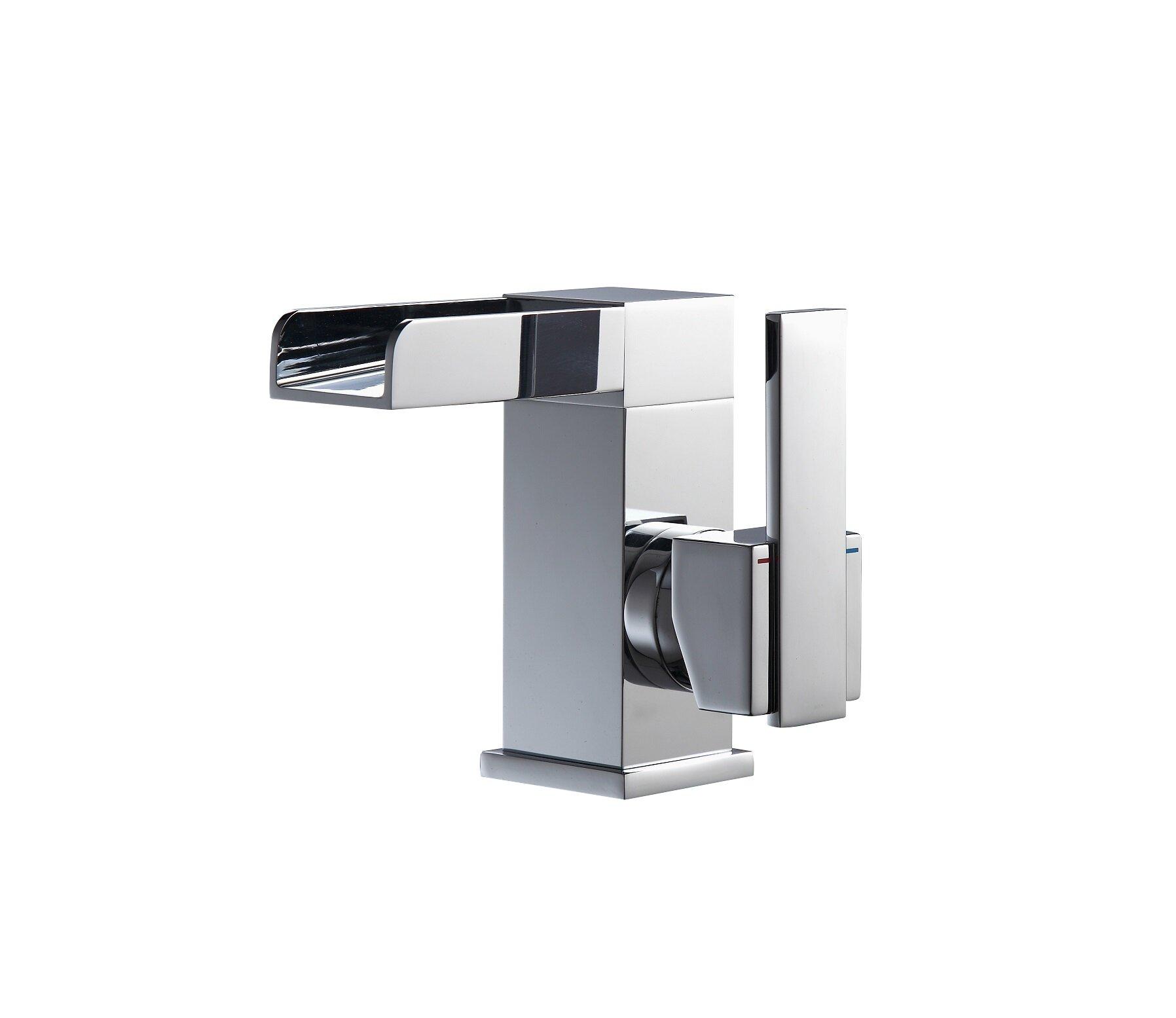 Modern Waterfall Spout Bathroom Sink Faucets Allmodern