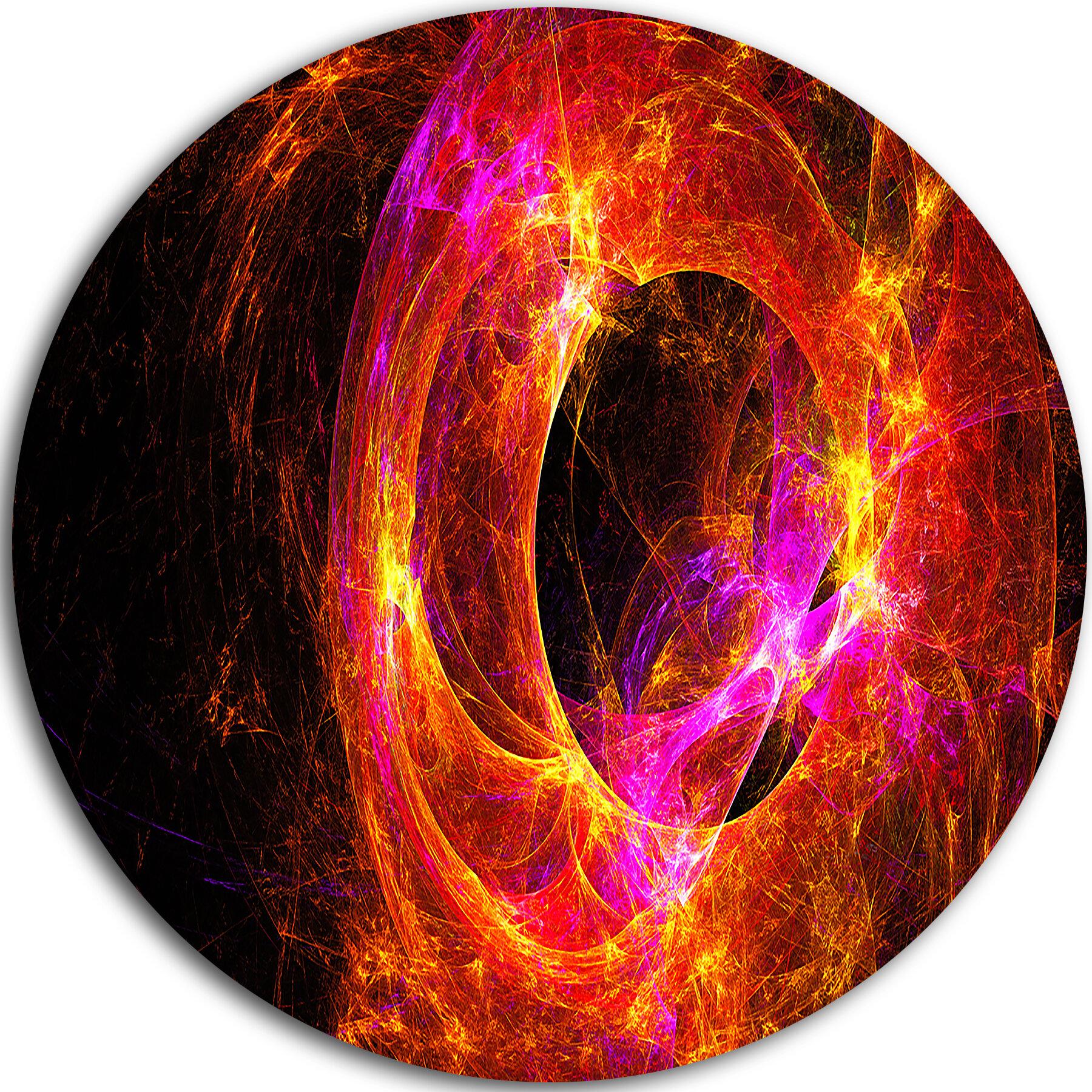Designart Far Spherical Galaxy Red Graphic Art Print On Metal Wayfair