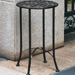 Comparison Mandalay 16-inch Iron Patio Side Table By International Caravan