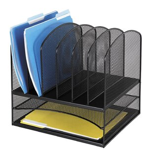 Safco Products Company Mesh Desk Organizer, Eight Sections, 13.5