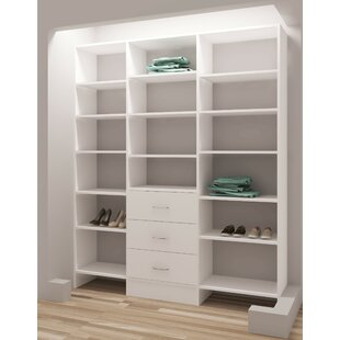 Inexpensive Demure Design 63W Closet System By TidySquares Inc.