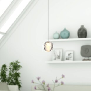 Wrought Studio Veroniza 1-Light LED Globe Pendant