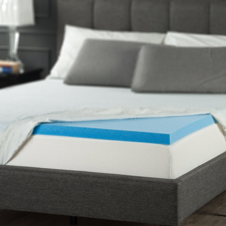 Alwyn Home 2 Gel Memory Foam Mattress Topper Reviews Wayfair