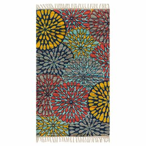 Aria Light Blue/Red/Yellow Area Rug