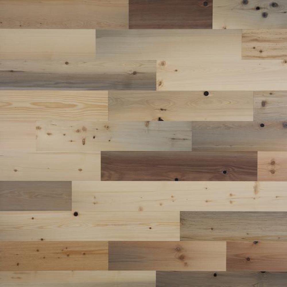 Timberchic 5 X Varying Length Peel And Stick Reclaimed Wood Wall Paneling Reviews Wayfair