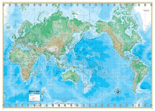 Phsical Map Of Japan Universal Map Advanced Physical Map   World | Wayfair