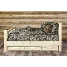 Abella Clear Lacquer Storage Platform Bed by Loon Peak