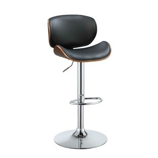Goodwater Adjustable Height Swivel Bar Stool George Oliver