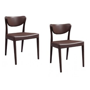 Boozer Oak Upholstered Dining Chair (Set of 2) by Corrigan Studio
