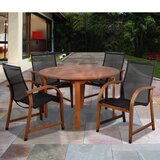 Trost International Home Outdoor 5 Piece Dining Set