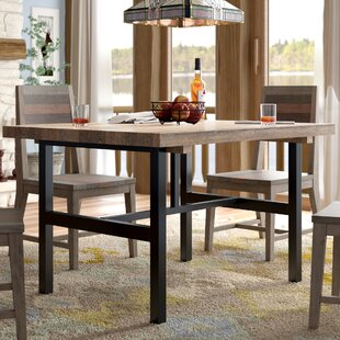 Veropeso Solid Wood Dining Table Mistana