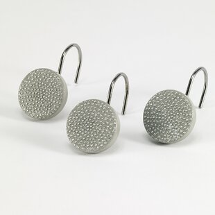 Dotted Circles Shower Curtain Hooks (Set of 12)
