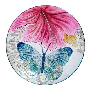 Evergreen Enterprises, Inc Butterfly Dance with Hibiscus Birdbath