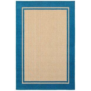 Barker Sand/Blue Indoor/Outdoor Area Rug